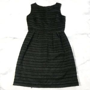Cynthia Rowley Black Sparkly Striped Dress